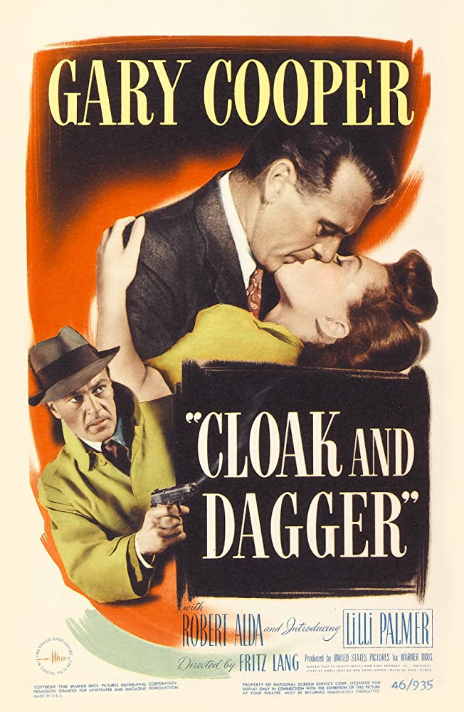 Gary Cooper and Lilli Palmer in Cloak and Dagger (1946)