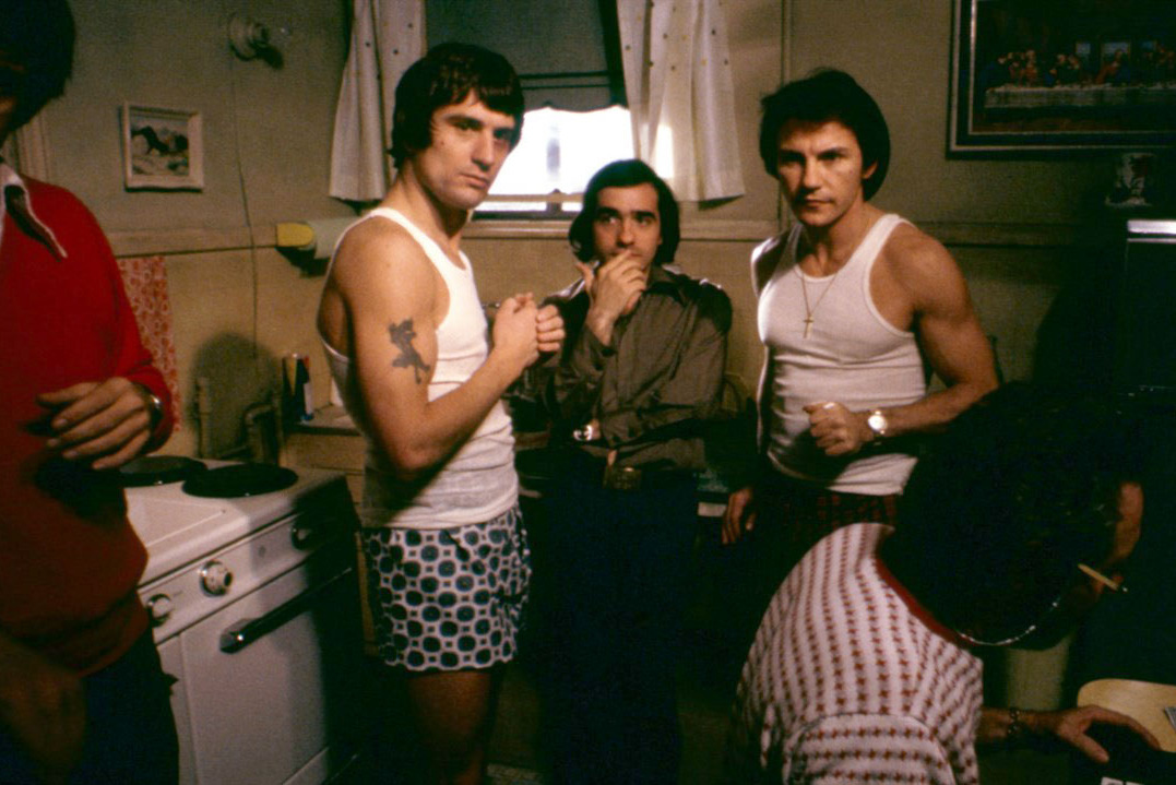 Robert De Niro, Harvey Keitel, and Martin Scorsese in Mean Streets (1973)