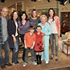 Valerie Bertinelli, Gregory Harrison, Jane Leeves, Wendie Malick, Betty White, Mandy June Turpin, Max Charles, and Caitlin Carmichael in Hot in Cleveland (2010)