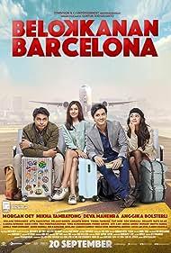 Mikha Tambayong, Deva Mahenra, Morgan Oey, and Anggika Bolsterli in Belok Kanan Barcelona (2018)