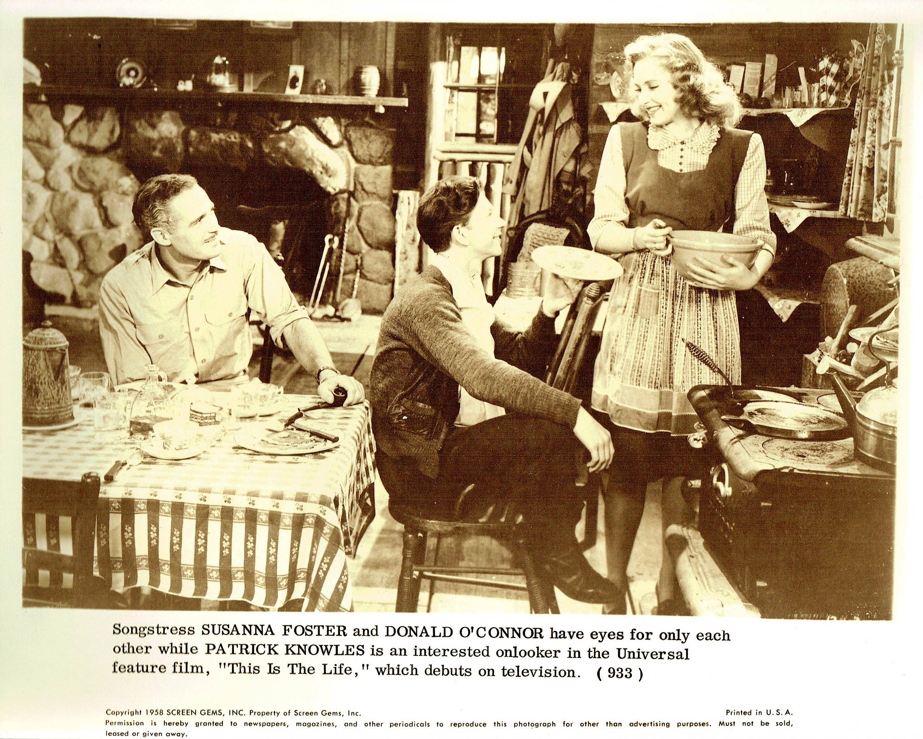 Susanna Foster, Patric Knowles, and Donald O'Connor in This Is the Life (1944)