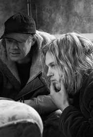 Gus Van Sant and Michael Pitt in Making of Last Days (2005)