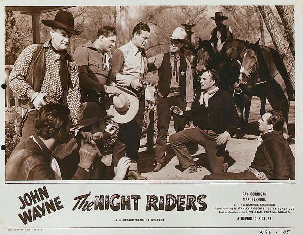 John Wayne, Ray Corrigan, Ethan Laidlaw, Kermit Maynard, Max Terhune, and Tom Tyler in The Night Riders (1939)