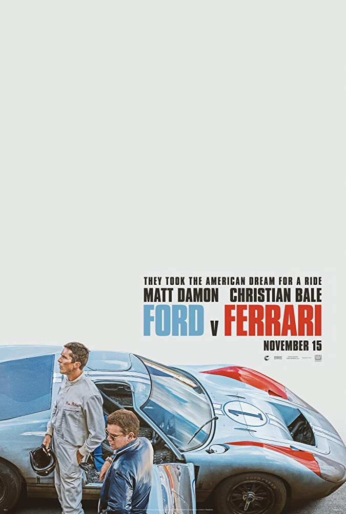 Christian Bale and Matt Damon in Ford v Ferrari (2019)