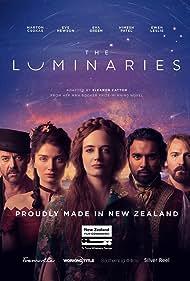 Marton Csokas, Ewen Leslie, Eva Green, Eve Hewson, and Himesh Patel in The Luminaries (2020)
