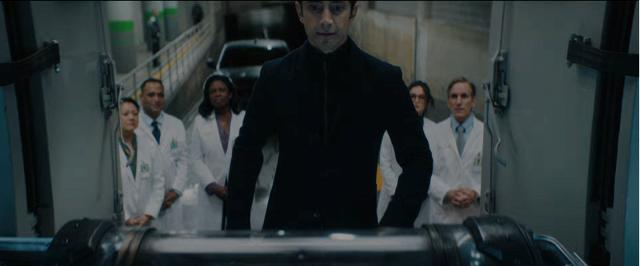 Wayne Pére, Riz Ahmed, Jenny Slate, and Sope Aluko in Venom (2018)