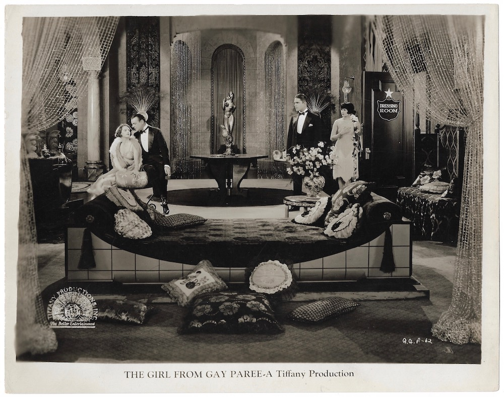 Barbara Bedford, Betty Blythe, Malcolm McGregor, and Lowell Sherman in The Girl from Gay Paree (1927)