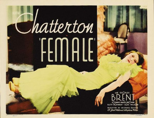 Ruth Chatterton in Female (1933)