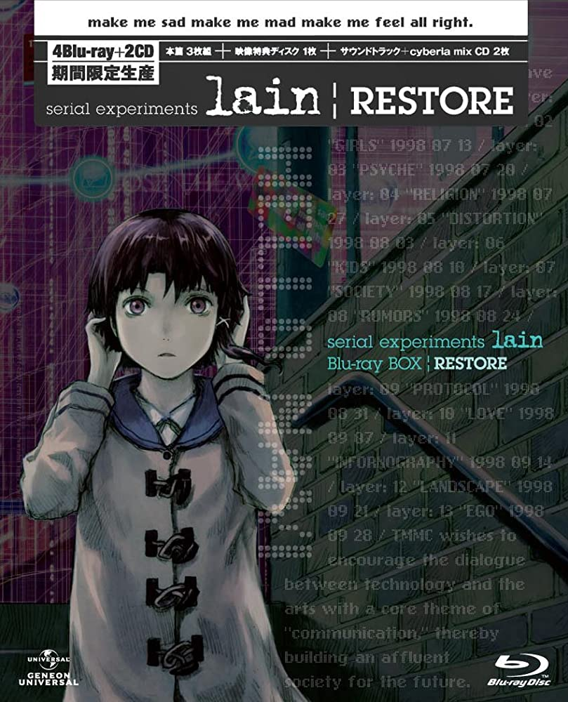 Serial Experiments Lain (1998)  Titles: Serial Experiments Lain