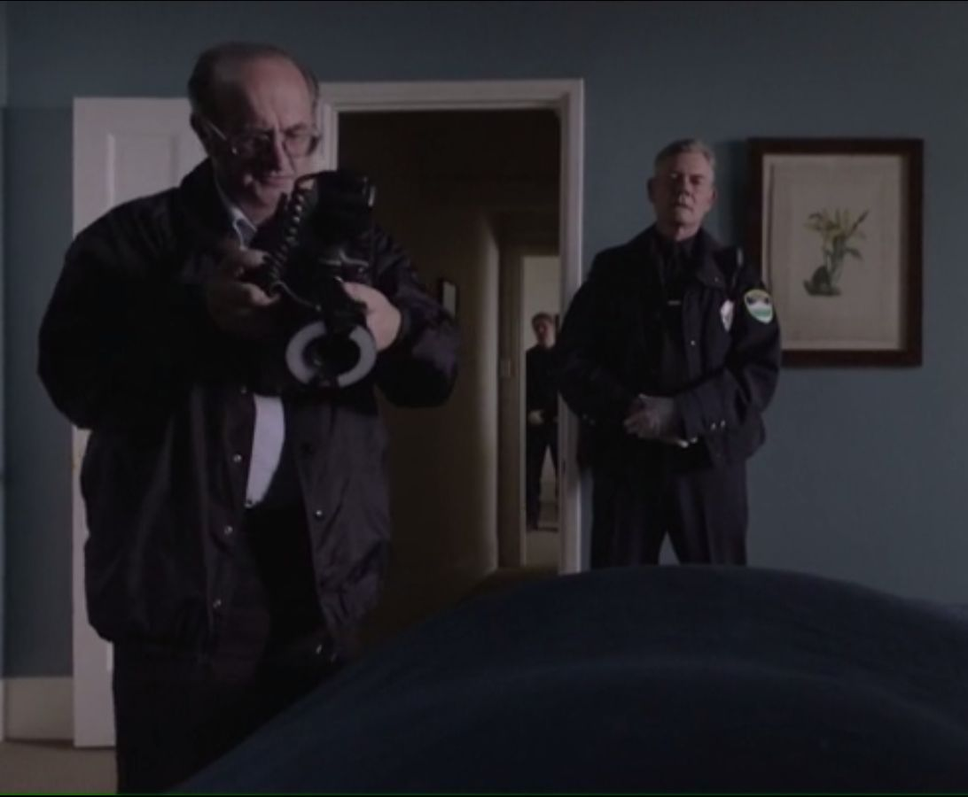 "As the crime-scene forensic photographer in the first episode of ""Twin Peaks"" (2017)."