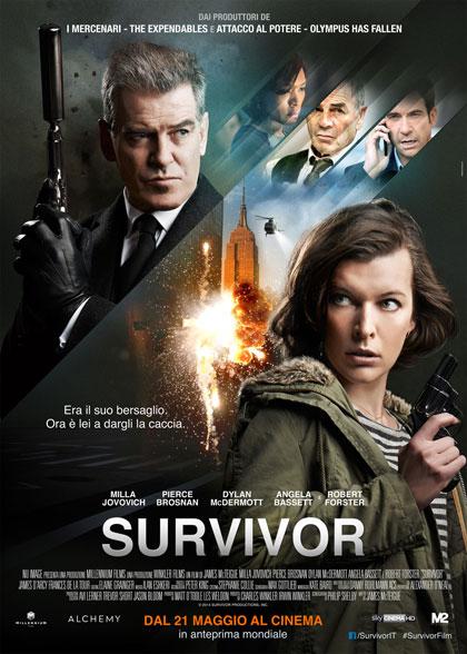 Pierce Brosnan, Milla Jovovich, Robert Forster, and Dylan McDermott in Survivor (2015)