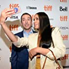 Rosario Dawson and Andy Greenwald at an event for Briarpatch (2019)