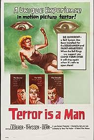 Richard Derr, Francis Lederer, and Greta Thyssen in Terror Is a Man (1959)