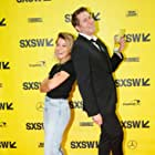 Scott Aukerman and Tatiana Maslany at an event for Outside In (2017)