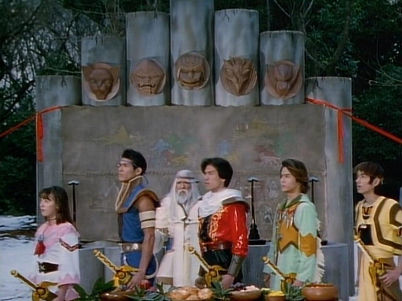 Juri Miyazawa, Teruaki Ogawa, Shouei, Koji Sueyoshi, Nobuaki Takahashi, and Hiroshi Arikawa in Seijû sentai Gingaman (1998)