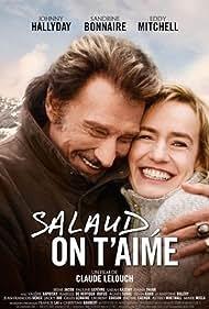 Johnny Hallyday and Sandrine Bonnaire in Salaud, on t'aime. (2014)