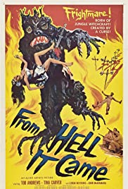 From Hell It Came Poster