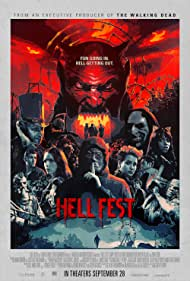 Tony Todd, Reign Edwards, Bex Taylor-Klaus, Stephen Conroy, Matt Mercurio, Amy Forsyth, Christian James, and Roby Attal in Hell Fest (2018)