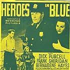 Joe Caits, Monte Collins, Paul Fix, Bernadene Hayes, Edward Keane, and Dick Purcell in Heroes in Blue (1939)