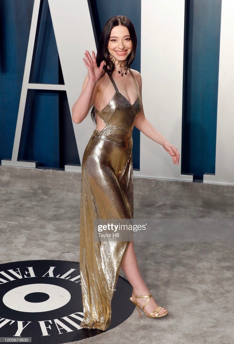 Mikey Madison attends the 2020 Vanity Fair Oscar Party hosted by Radhika Jones at Wallis Annenberg Center for the Performing Arts on February 09, 2020 in Beverly Hills, California. (Photo by Gregg DeGuire/FilmMagic)