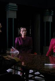 Patrick Stewart and Carolyn Seymour in Star Trek: The Next Generation (1987)