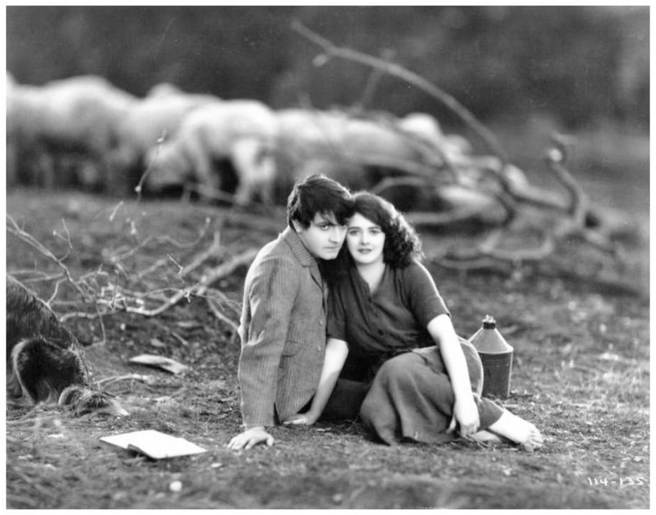 Richard Barthelmess and Molly O'Day in The Little Shepherd of Kingdom Come (1928)