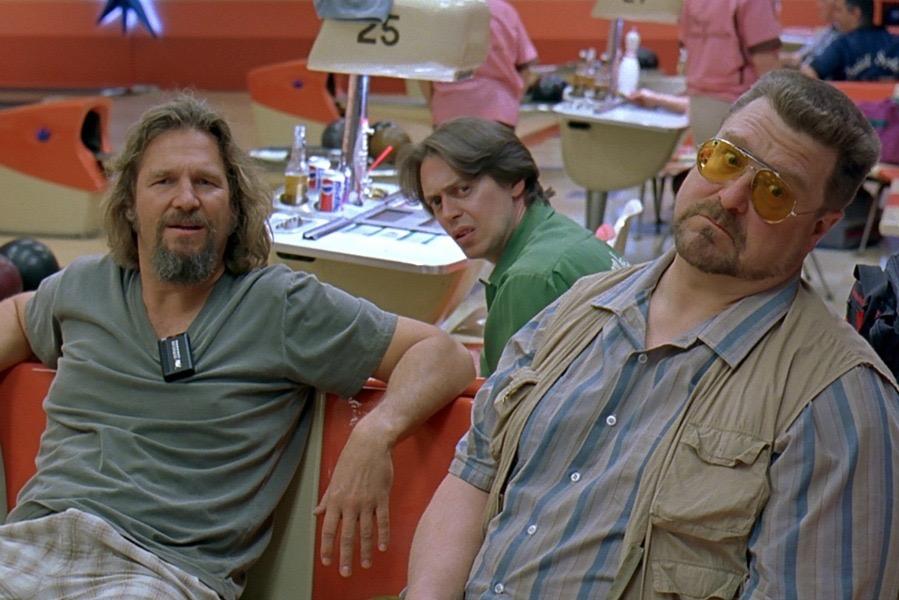 Steve Buscemi, Jeff Bridges, and John Goodman in The Big Lebowski (1998)