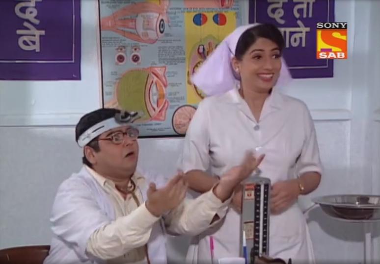 Deven Bhojani and Asawari Joshi in Office Office (2000)