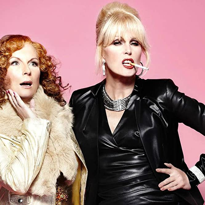 Joanna Lumley and Jennifer Saunders in Absolutely Fabulous (1992)