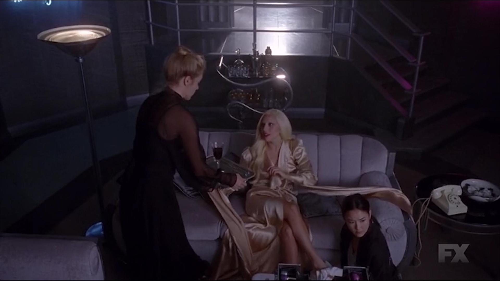 Chloë Sevigny, Lady Gaga, and Grace Su in American Horror Story: Hotel