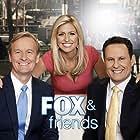 Steve Doocy, Brian Kilmeade, Janice Dean, Clayton Morris, Heather Nauert, Ainsley Earhardt, Maria Molina, and Heather Childers in Fox & Friends (1998)