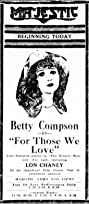 For Those We Love (1921) Poster