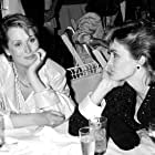 Meryl Streep and Jessica Lange at an event for The 58th Annual Academy Awards (1986)
