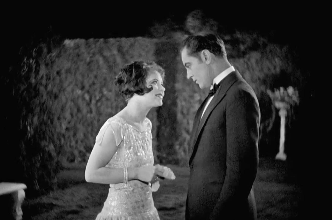 Clara Bow and Einar Hanson in Children of Divorce (1927)