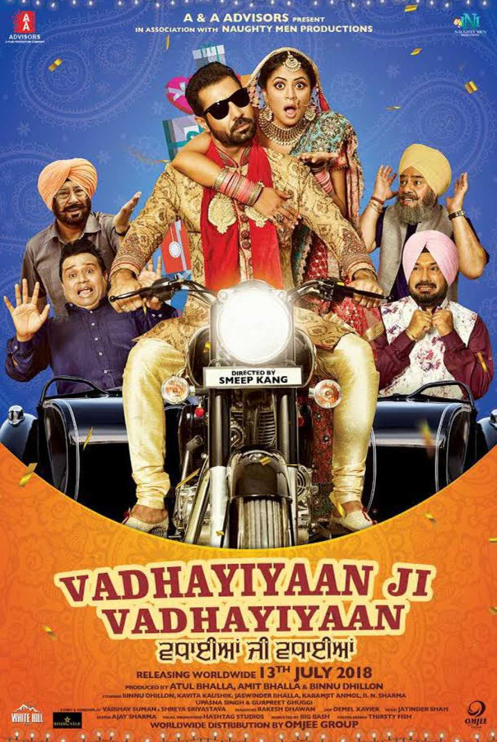 Vadhayiyaan Ji Vadhayiyaan 2018 Punjabi Movie Download