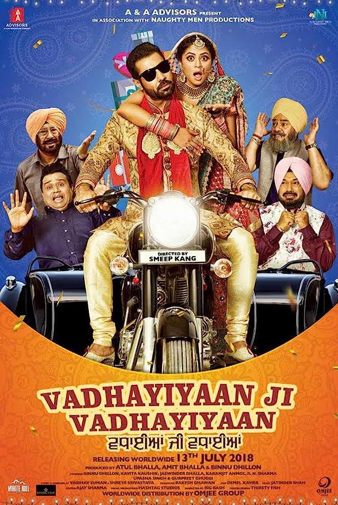 Vadhaiyan Ji Vadhaiyan 2018 Punjabi Non Retail DVDRip x264 500MB
