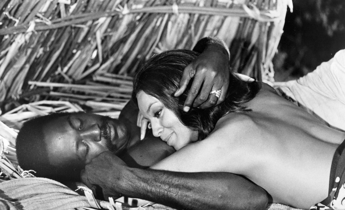 Vonetta McGee and Richard Roundtree in Shaft in Africa (1973)