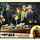 Gilbert Holmes, Duke R. Lee, Tom Mix, Bud Osborne, Walter Patterson, William Steele, and Tony Jr. the Horse in Flaming Guns (1932)