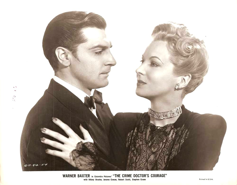 Hillary Brooke and Anthony Caruso in The Crime Doctor's Courage (1945)