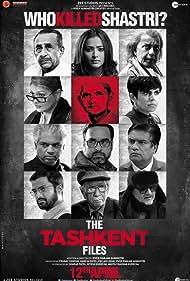 Mithun Chakraborty, Pallavi Joshi, Vinay Pathak, Naseeruddin Shah, Rajesh Sharma, Mandira Bedi, Mohan Kapur, Achint Kaur, Shweta Basu Prasad, Prakash Belawadi, Pankaj Tripathi, and Ankur Rathee in The Tashkent Files (2019)