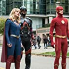 Brandon Routh, Melissa Benoist, and Grant Gustin in Legends of Tomorrow (2016)