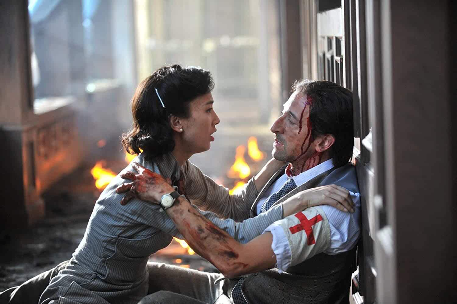 Adrien Brody and Shengyi Huang in Air Strike (2018)