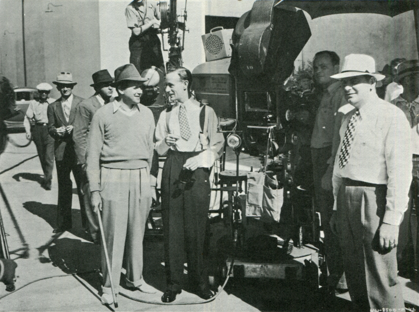 Leslie Howard, Charles G. Clarke, and Tay Garnett in Stand-In (1937)