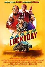 Crispin Glover, Nina Dobrev, and Luke Bracey in Lucky Day (2019)