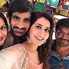 Ravi Teja, Anil Ravipudi, Raashi Khanna, and Mehreen Pirzada in Raja The Great (2017)