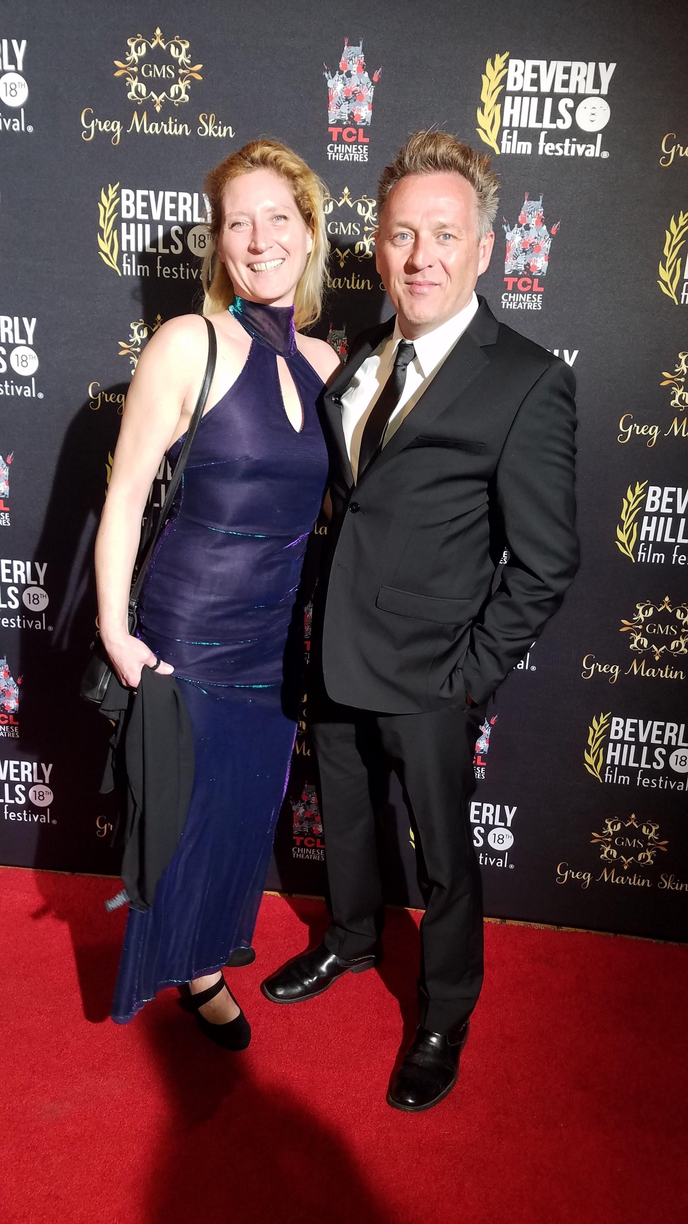 Jennifer Stewart and Joe Toppe at the Beverly Hills Film Festival.