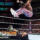Kofi Kingston, Jonathan Solofa Fatu, and Joshua Samuel Fatu in WWE: Battleground (2017)