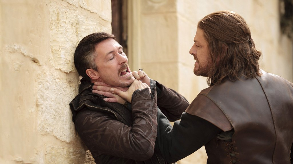 Sean Bean and Aidan Gillen in Game of Thrones (2011)