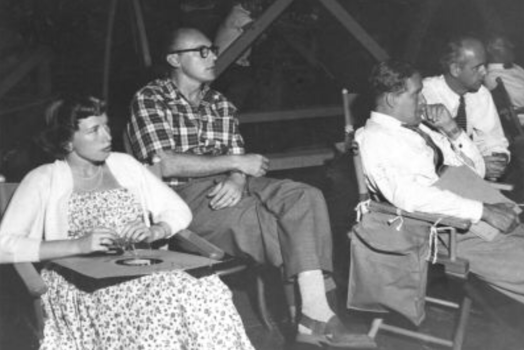 Edle Bakke, William Bosche, and Wernher von Braun in Disneyland (1954)
