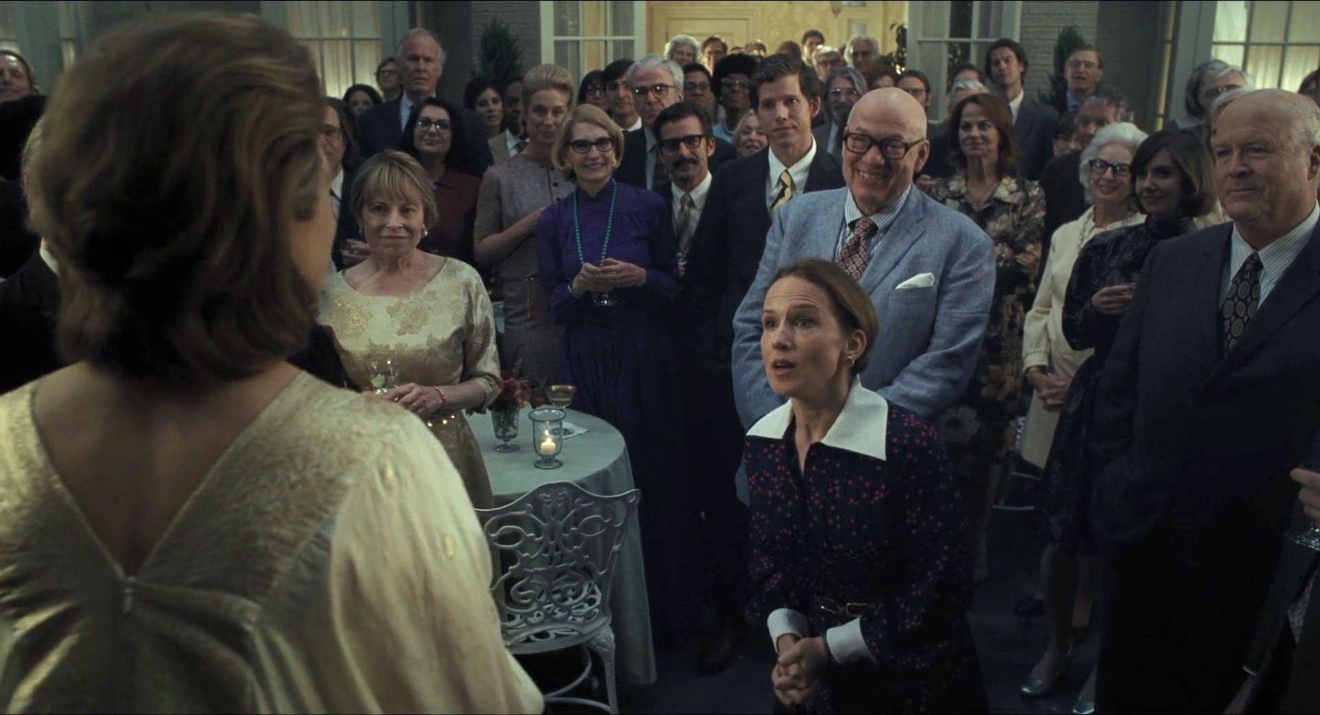 Meryl Streep, Jennifer Dundas, Peter Van Wagner, Stark Sands, Alison Brie, and John Rue in The Post (2017)